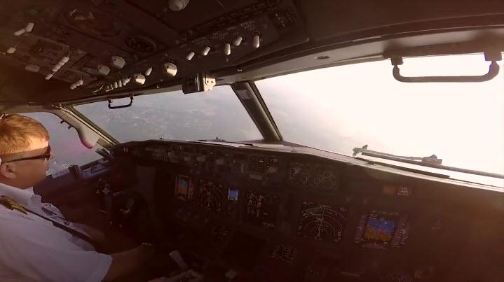 Полёт в кабине, глазами летчиков авиакомпании «Победа» (видео)