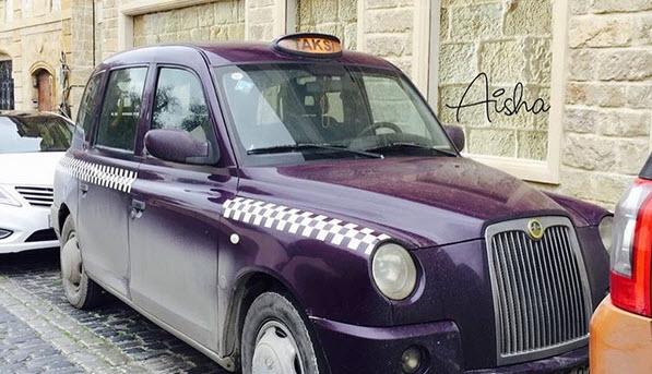 Такси цвета баклажан в Баку