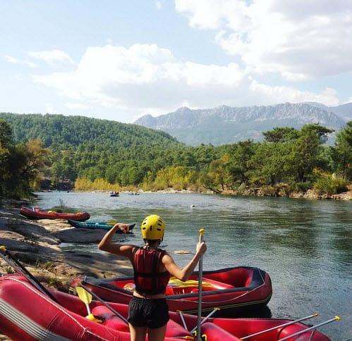 Рафтинг по рекам в Турции