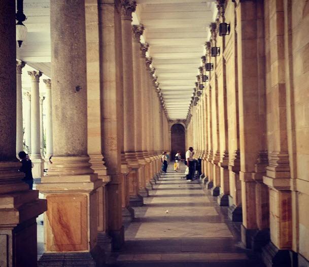 Мельничная колоннада в Карловы Вары