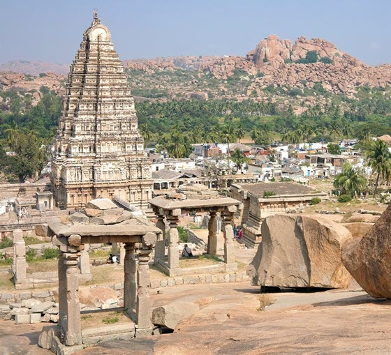 Деревня Хампи (Виджаянагар) в Индии