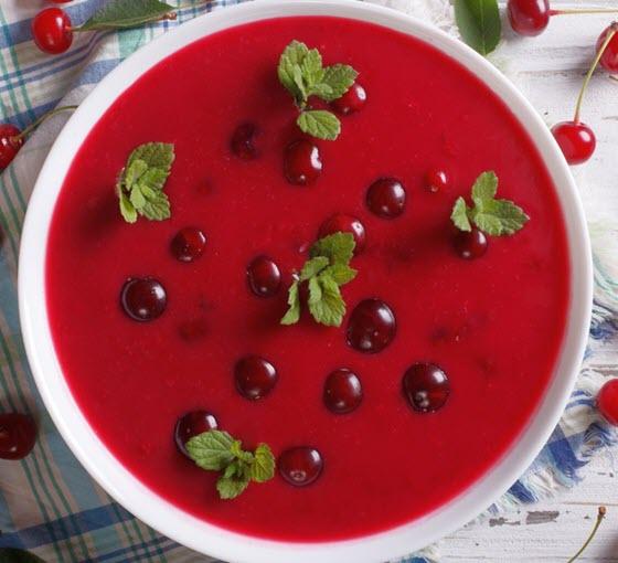 Кислый вишнёвый суп-похлёбка Меггилевеш (Hideg Meggyleves)
