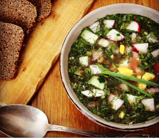Летний холодный суп ботвинья