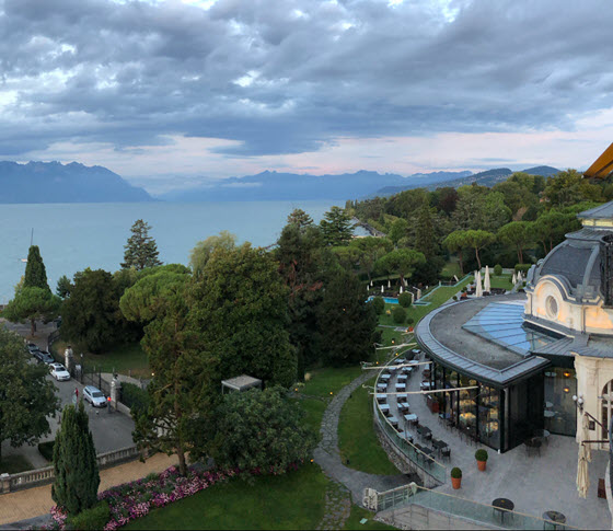 Швейцарская гостиница Beau-Rivage Palace (Лозанна, Швейцария)