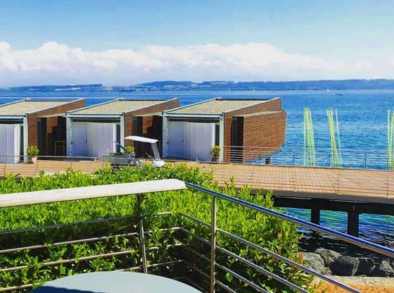 Швейцарская гостиница Hotel Palafitte (Невшатель, Швейцария)