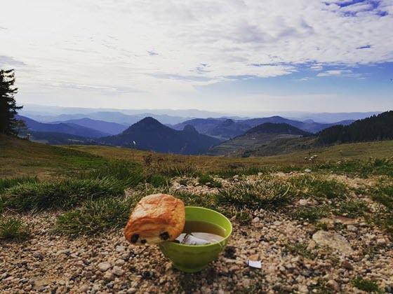 Вид на Овернь с гор
