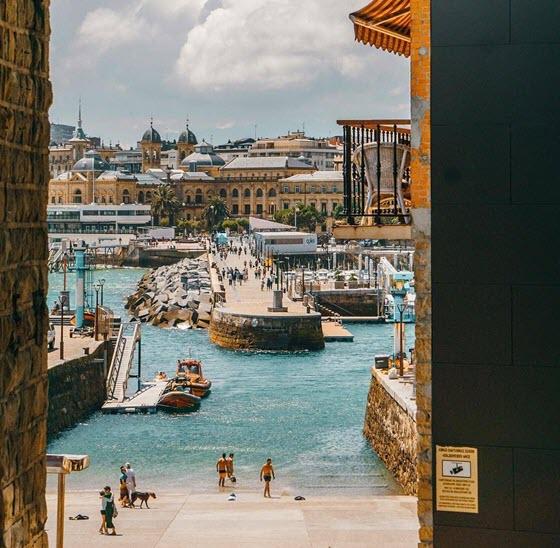 Вид на Сан Себастьян