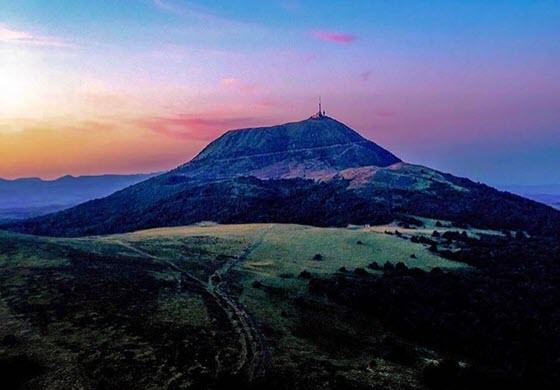 Вид на вулкан Ламптежи