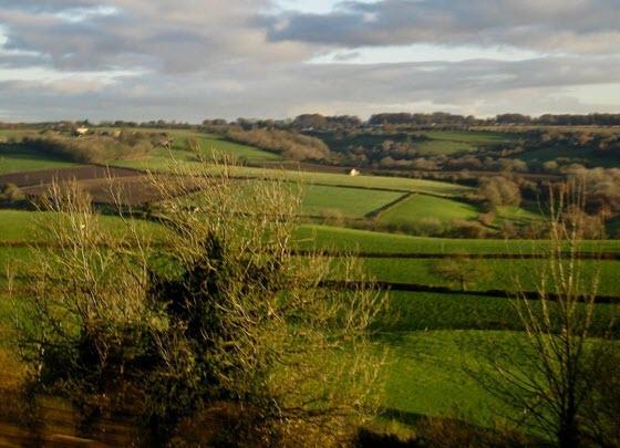 Типичная селькая местность Англии