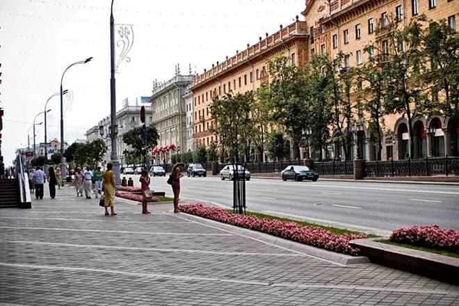 Улицы Минска как в СССР